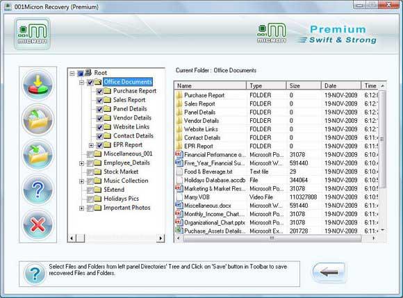 Recover Data screen shot